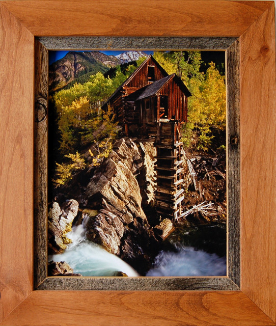 rustic frames alder wood barn wood frame sagebrush series 11x14 rustic picture