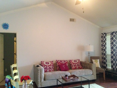 Vast Blank Wall Space In Living Room