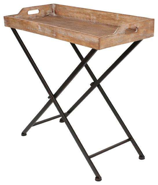 Marmora Wood Foldable Tray Table 32 X14 X30 Farmhouse Tv Trays By Uniek Inc