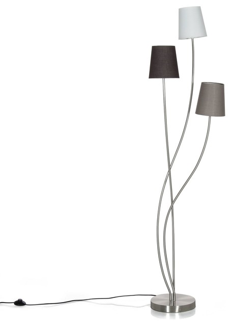 Sewal lampadaire 3 points lumineux h165cm contemporain lampadaire int rieur par alin a for Lampadaire salon