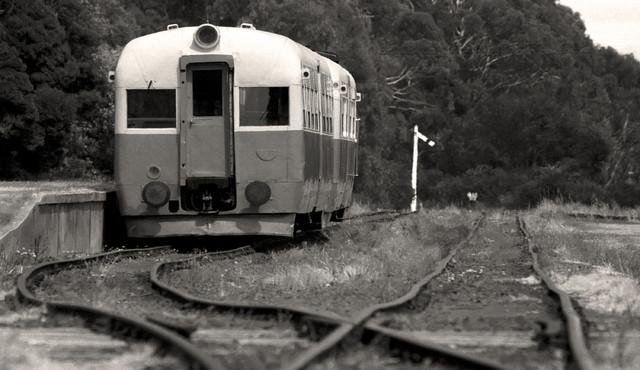 """Old Railcar Don River Railway, Tasmania"", Black and White Photography"