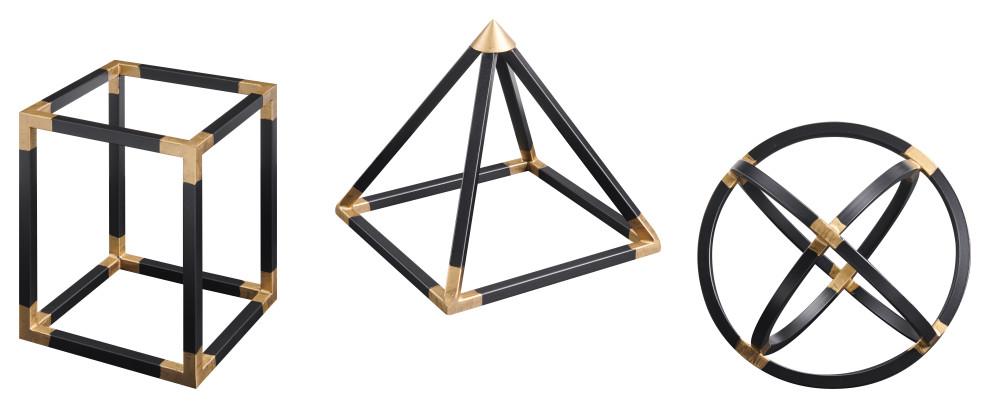 Finesse Decor Set of Three Geometric Shapes