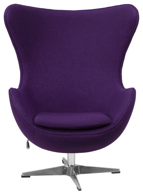 Astounding Purple Wool Fabric Upholstered Mid Century Style Arm Chair Gamerscity Chair Design For Home Gamerscityorg