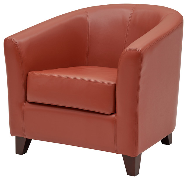 Surprising Hayden Bonded Leather Tub Chair Pumpkin Squirreltailoven Fun Painted Chair Ideas Images Squirreltailovenorg