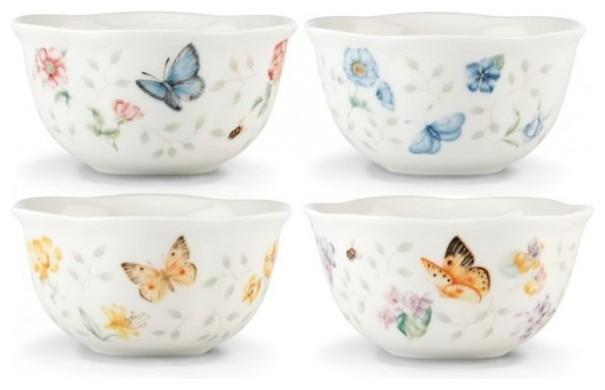 Lenox Lenox Butterfly Meadow Petite Dessert Bowls Set