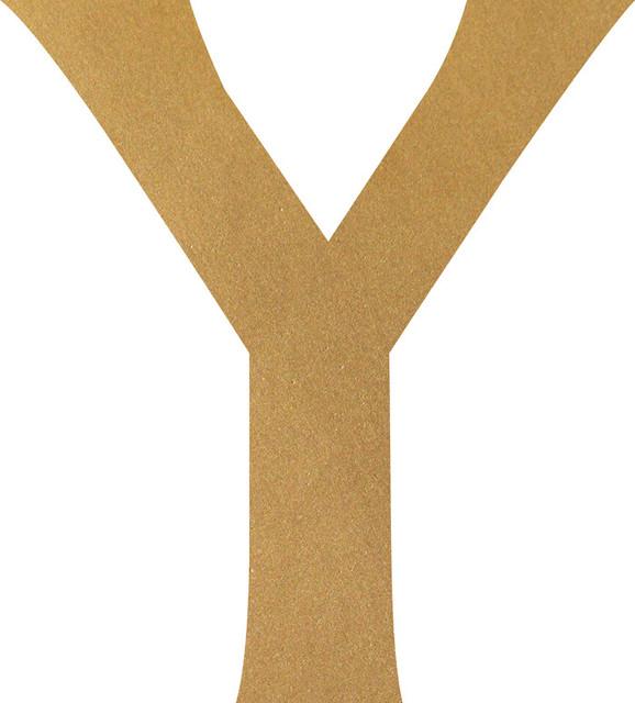 Upsilon, Gold Metallic, Greek Letter Decal, 14