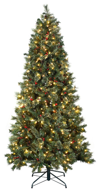 Astella 7.5' Christmas Tree With 500 Ul-Rated Lights and Stand, Green