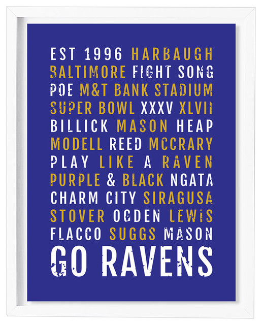 Baltimore Ravens Subway Poster Contemporary Prints And