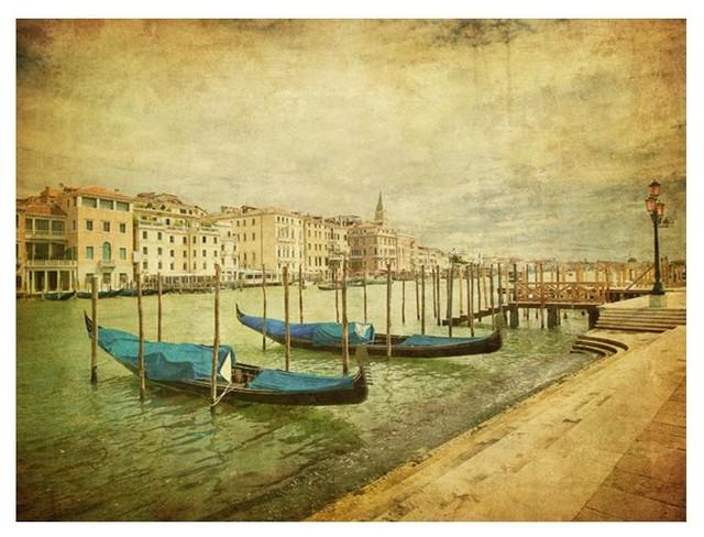 Vintage Venice Wallpaper Mural, 300x230 cm