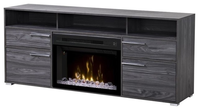 Dimplex Sander 25 Fireplace Tv Stand Carbonized Walnut