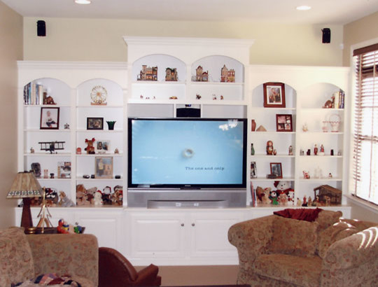 White TV Cabinet Traditional