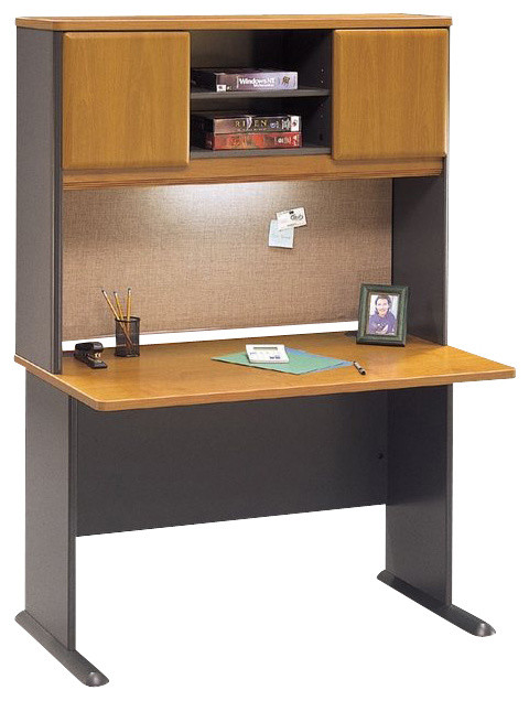 Bush Series A 48 Quot Wood Computer Desk With Hutch In Natural