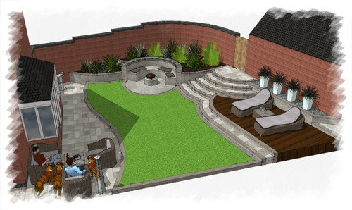 New Build Garden Design Leicestershire Before Amp After