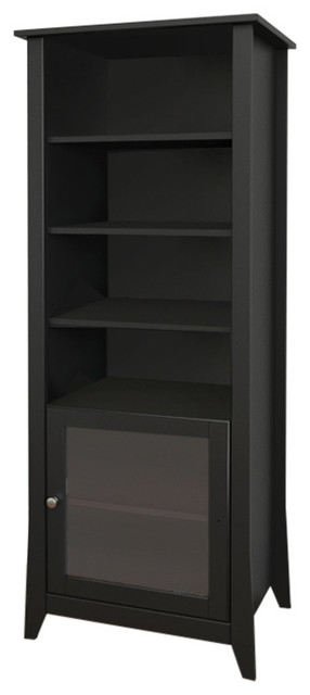 Tuxedo Curio Cabinet, Black - Modern - China Cabinets And Hutches - by ...