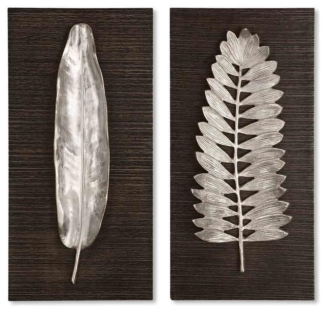 Uttermost Silver Leaves Wall Art.