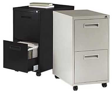 Basyx by HON 1600 Series Mobile 2-Drawer Vertical Filing Cabinet - Modern - Home Office ...
