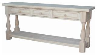 Mason Tuscan Console Table, Unfinished