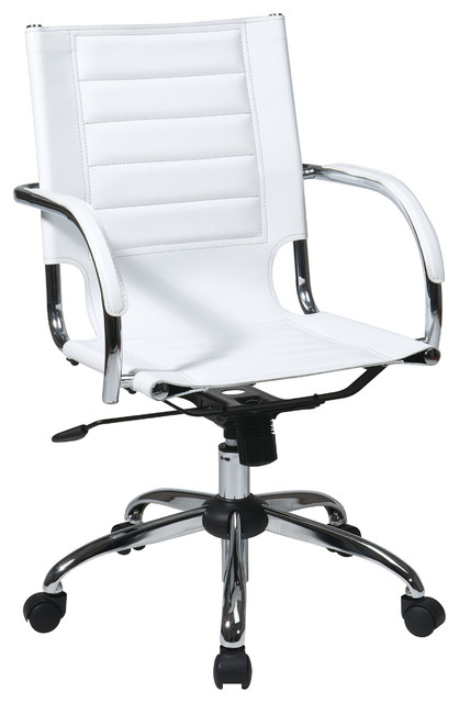 Ave Six Trinidad Office Chair, White.