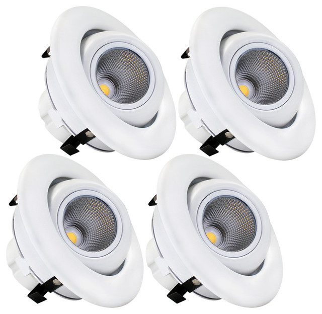 TORCHSTAR 4 LED Gimbal Recessed Downlight 10W Ceiling Light Set Of 4