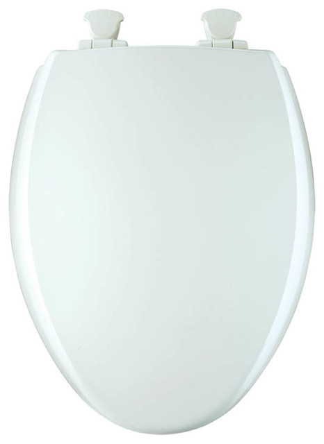 Bemis 1600E2 000 Lift Off Wood Elongated Slow Close Toilet Seat White Cont
