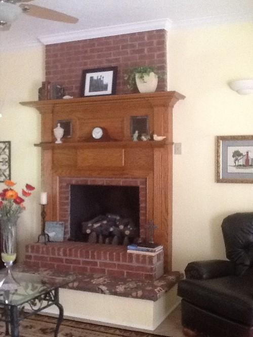Double-mantel Fireplace