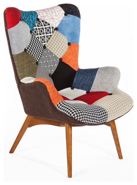 Patchwork Armchair Contemporary Armchairs And Accent