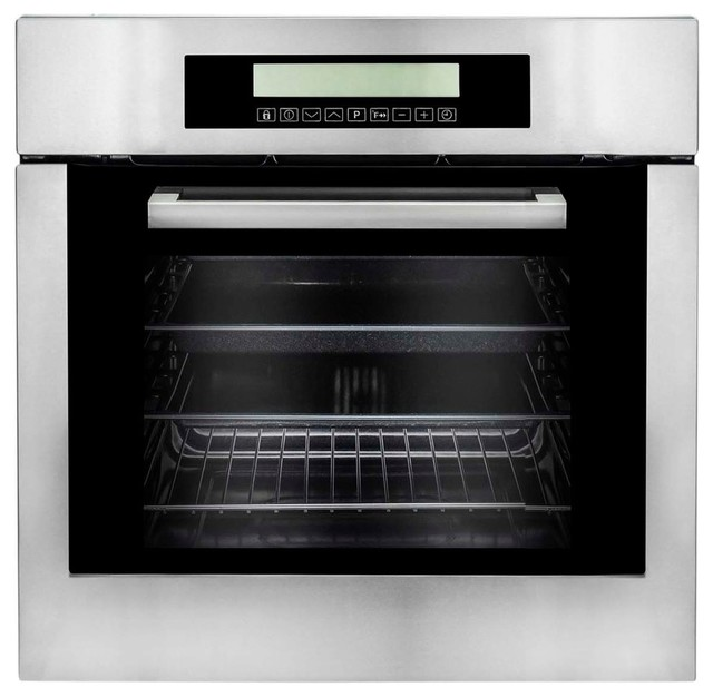 Kitchen Living Turbo Convection Oven   Cosmo 24 Electric Convection Oven With Self Cleaning Contemporary