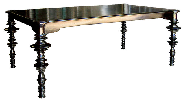 Noir Ferret Dining Table Distressed Black Modern  : modern dining tables from www.houzz.com.au size 640 x 352 jpeg 39kB