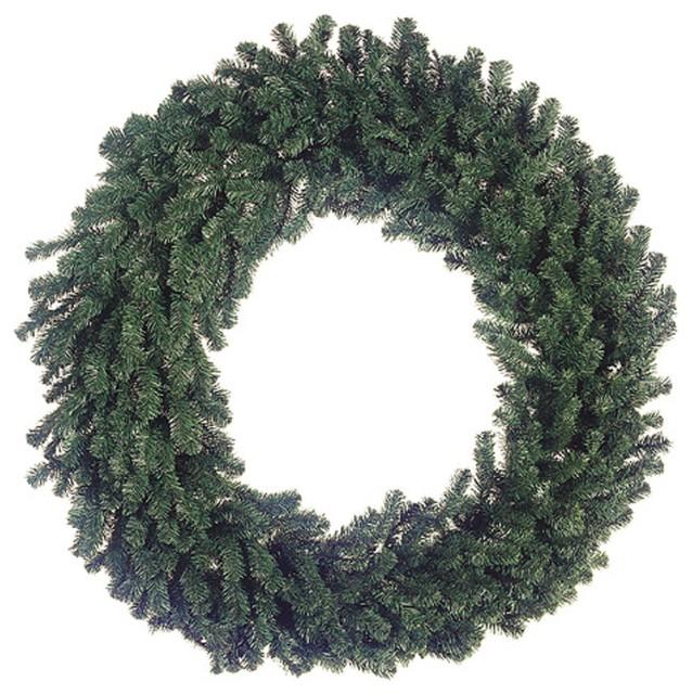 """60"""" Deluxe Windsor Pine Artificial Christmas Wreath, Unlit."""
