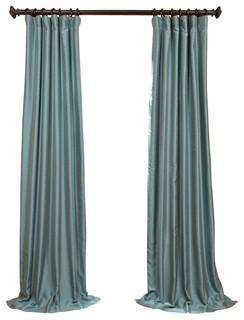 Exclusive Fabrics & Furnishings, LLC Blue Agave Yarn Dyed Faux Dupioni ...
