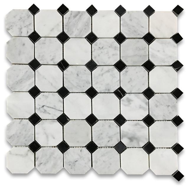 12 X12 Carrara White Octagon Mosaic