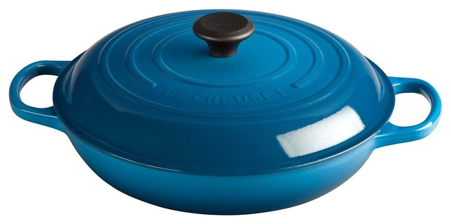 Le Creuset Signature Enameled Cast-Iron Round Braiser, 3-1/2-Quart.