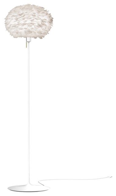 Eos Medium Floor Lamp, White/white.
