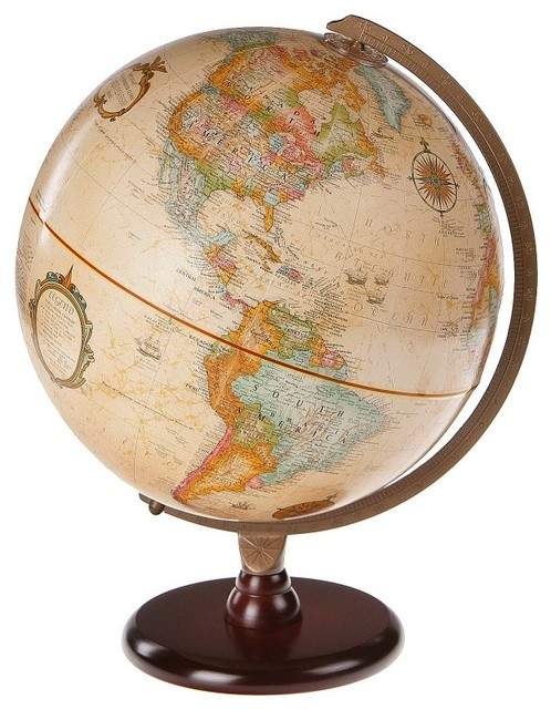 Replogle Globes Piedmont 12 Antique Desk Globe Reviews Houzz