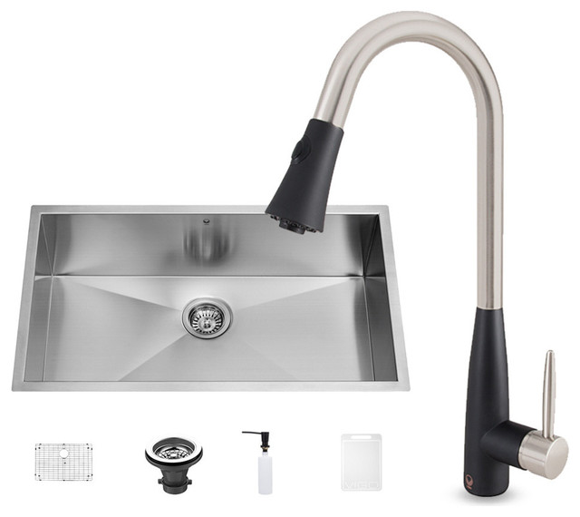 Vigo Stainless Steel Undermount Kitchen Sink And Milburn