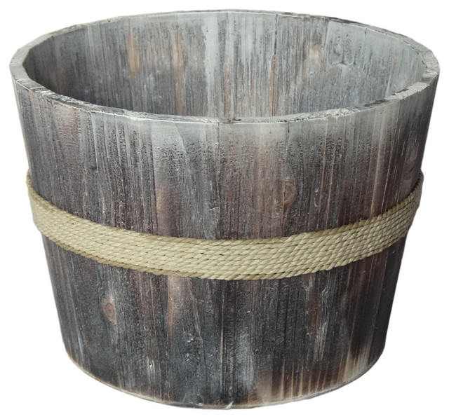 Shop Houzz Cheungs Athens Wooden Garden Bucket 875 Outdoor