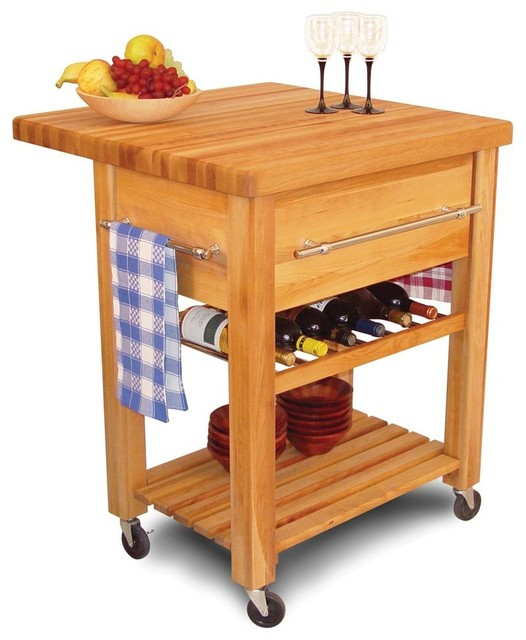 Baby Grand Workcenter W Drop Leaf, Wine Rack & Lower Shelf.