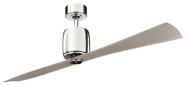 Ferron Indoor Ceiling Fans, Polished Nickel.