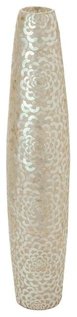 capiz seashell flower floor lamp - beach style - floor lamps