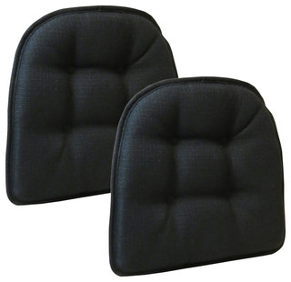 Forin Non-Slip Chair Cushions, Set of 2, Midnight