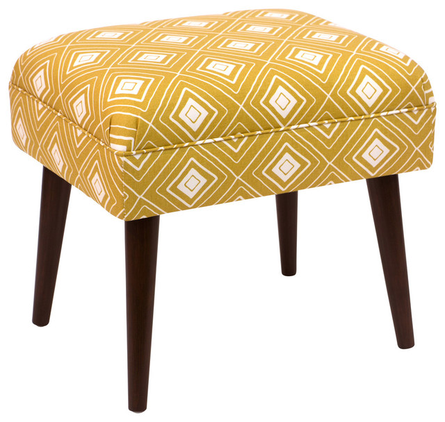 Skyline Furniture Ottoman Diamond Yellow Transitional Footstools And Ottomans By Homesquare