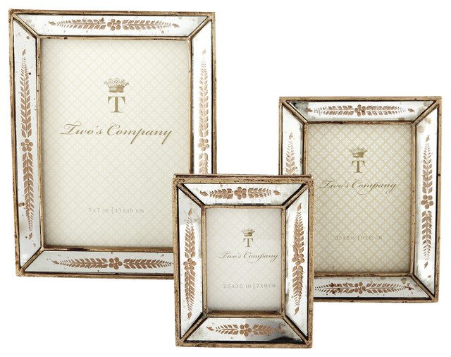 ce1bc9cb501 Set of 3 Gold Leaf Photo Frames - Traditional - Picture Frames - by Two s  Company