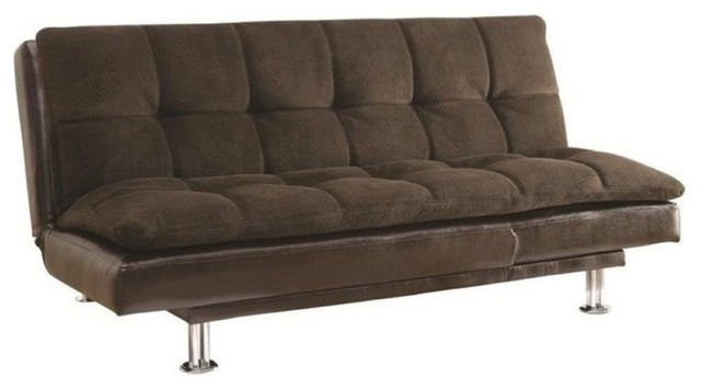 Bowery Hill Extra Plush Convertible Armless Sofa Bed Brown