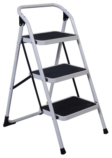 Awesome 3 Step Ladder Folding Heavy Duty Step Stool Anti Slip Platform Pabps2019 Chair Design Images Pabps2019Com