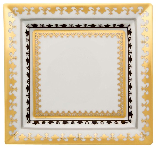 Vista Alegre Porcelain Capuleto Large Square Tray