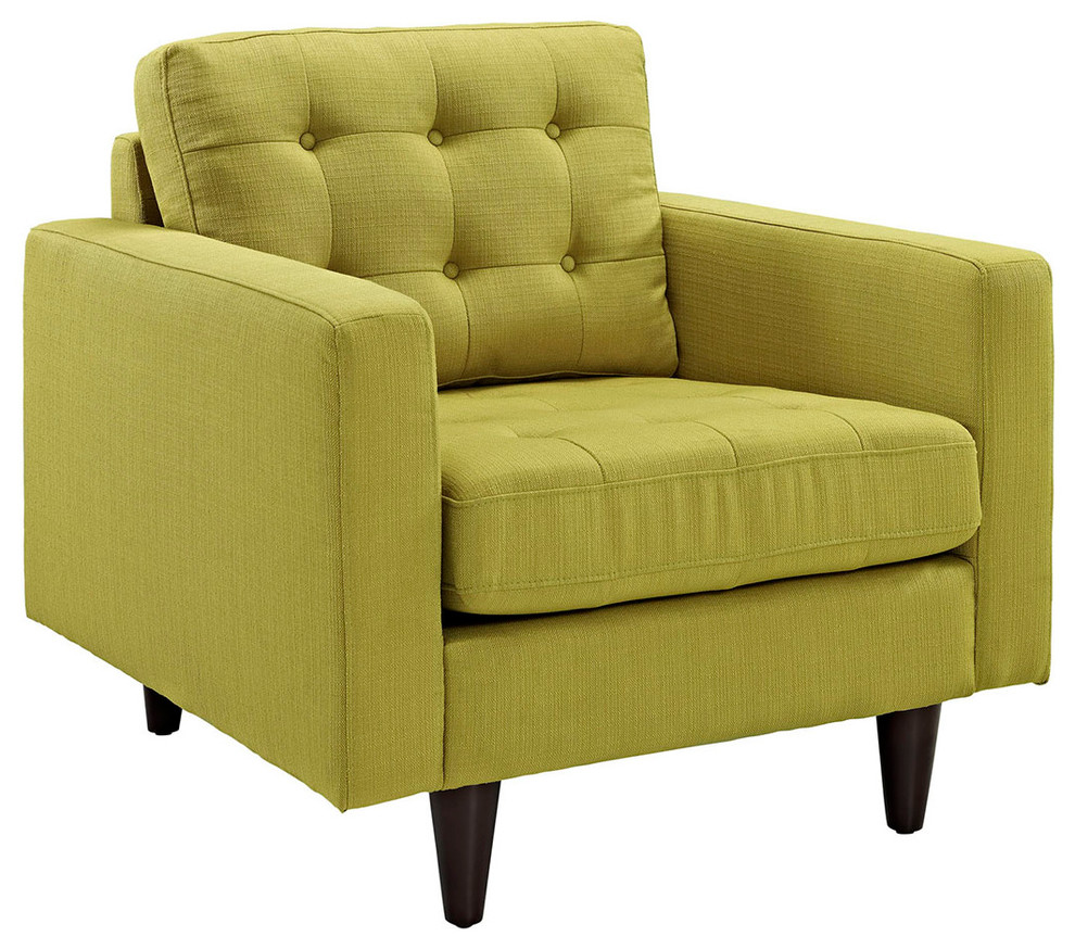 Upholstered Armchair, Wheatgrass by Modway