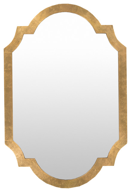 Signature Wall Mirrors, Aged Gold.