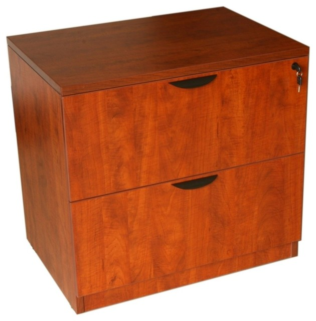 Boss Chairs Boss 2-Drawer Lateral File, Cherry