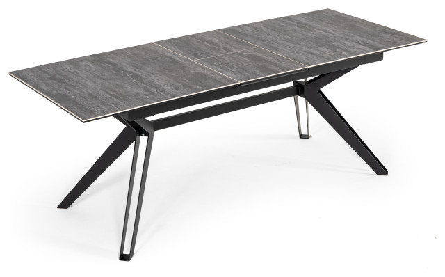 Modrest Dennis Modern Grey Ceramic Extendable Dining Table Midcentury Dining Tables By Vig Furniture Inc