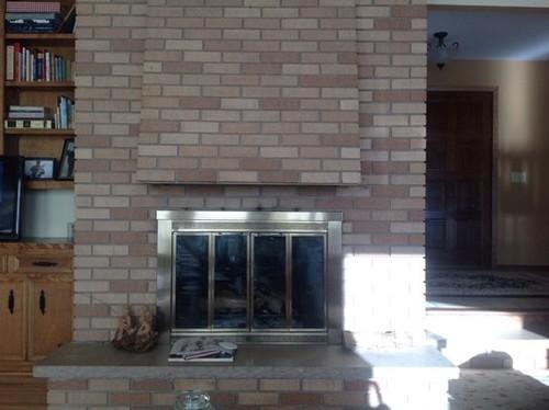 Big Fireplace Resurfacing Ideas